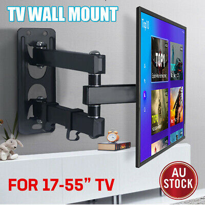 AU26.99 • Buy Full Motion TV Wall Mount Bracket Swivel Tilt 17 32 37 40 42 50 52 55 In LED LCD