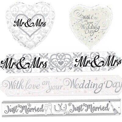 9ft Wedding Day Just Married Foil Banner Age Decoration Party • 2.29£