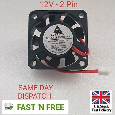 £5.99 • Buy 1pc Brushless DC Cooling Fan 40x40x10mm 4010 9 Blades 12V 2pin 0.06A  UK Seller