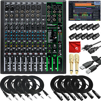 $349.99 • Buy Mackie ProFX12v3 12-Channel Recording Mixer USB Bundle With Pro Tools, Waveform