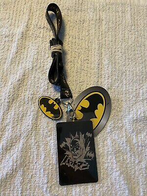 $13.99 • Buy Batman Lanyard Keychain With ID Holder And Rubber Charm