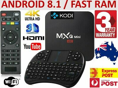 AU58.95 • Buy *2020* MXQ FHD WIFI 4K Quad-Core Android Smart TV Box + AU Warranty