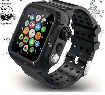$ CDN22.18 • Buy Waterproof Case With Band For Apple Watch IWatch Series 6 5 4 3 / Apple Watch SE