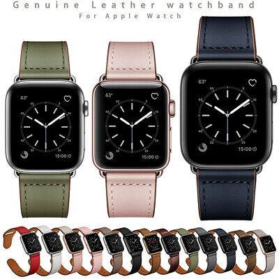 AU26.99 • Buy For Apple Watch Band Luxury Genuine Leather IWatch Strap Series 5 4 3 2 1