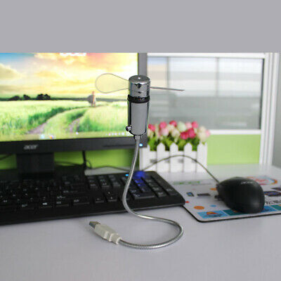 AU17.09 • Buy With LED Clock Home Office Durable Adjustable Time Display Desktop Mini USB Fan
