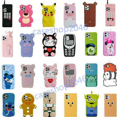 AU11.97 • Buy Cute 3D Cartoon Silicone Kids Cover Case For IPhone 11 Pro Max XR XS 6S 8 7 Plus