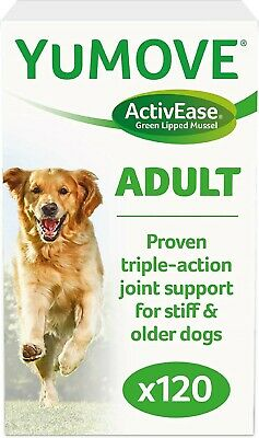 Lintbells YuMOVE Dog Hip And Joint Supplement For Stiff Dogs 120 Tablets • 25.79£