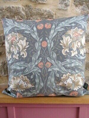 Liberty William Morris African Marigold Arts & Grey Velvet Fabric Cushion Cover  • 27.50£