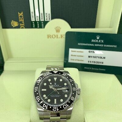 $ CDN15350.58 • Buy Rolex 116710 GMT Master 2 Box Card Plus Factory Service Papers Discontinued