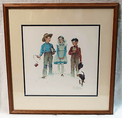 $ CDN146.63 • Buy Norman Rockwell Picture Young Man's Fancy 1954 Framed 24.5  X 23.5