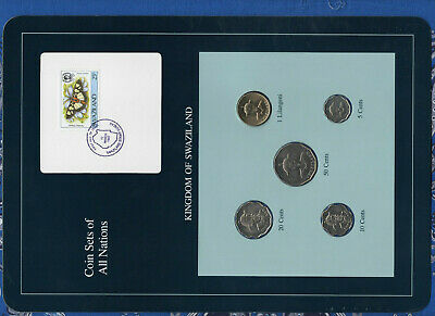 $14.78 • Buy Coin Sets Of All Nations Swaziland Wcard UNC 1979-1986 Lilangeni,5,50 Cents 1986
