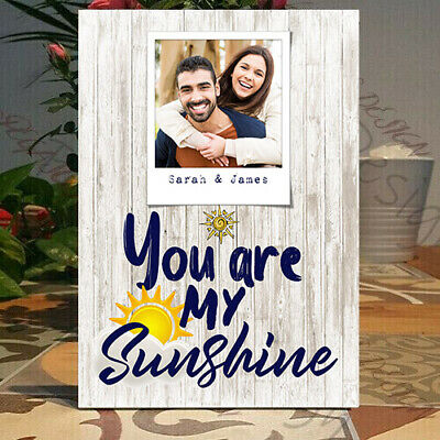 Personalised You Are My Sunshine, Girlfriend-Boyfriend Self Standing Plaque • 7.99£