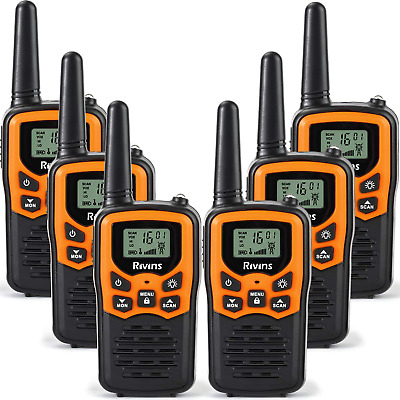 $ CDN137.74 • Buy 6 Pack Walkie Talkies Long Range Up To 5 Miles 2-Way Radios UHF 22CH FRS/GMRS