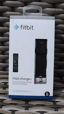 $ CDN33.93 • Buy Genuine Fitbit Charge 2 Leather Accessory Band Black XL/XG Strap