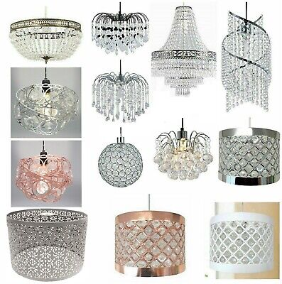 Modern Chandelier Acrylic Crystal Light Shades Droplet Ceiling Lampshade Pendant • 29.95£
