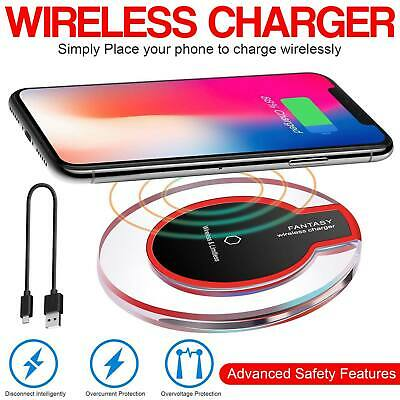 AU4.95 • Buy Qi Wireless Charger FAST Charging Pad Receiver 10W For IPhone 11 XS XR 8 Samsung