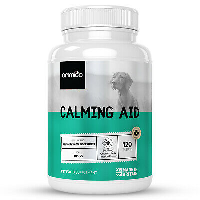 £17.99 • Buy Dog Calming 120 Tablets   Stress & Anxiety Relief   Natural Calm Supplement