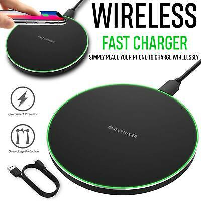 AU8.45 • Buy Fast Qi Wireless Charger Charging Pad Mat Dock For IPhone 11 8 Plus X XS Max XR