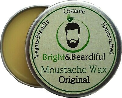 Unscented Beard & Moustache Wax Strong Hold For Styling Twists & Curls 15ml • 3.85£