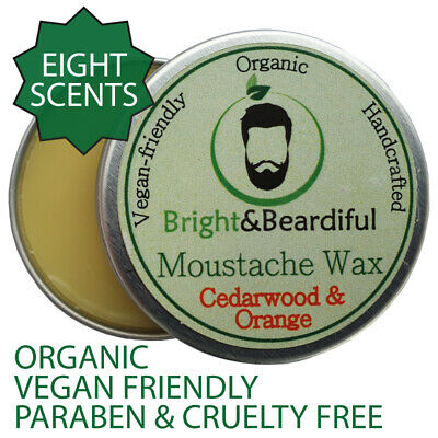 Beard & Moustache Wax Strong Hold Styling, Taming, Twists, Curls, Handlebar 15ml • 3.99£