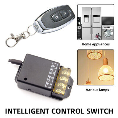£9.59 • Buy AC100-240V 433MHz 30A Relay 2CH Wireless Remote Control Switch With Transmitter