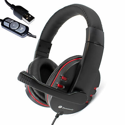Dynamode MX-878 USB Stereo PC Gaming Headset Headphones With Microphone Laptop • 18.99£