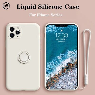 AU9.99 • Buy For IPhone Xs 6/7/8/ Plus 11/Pro Ring Stand Case Shockproof Liquid Silicone Cove
