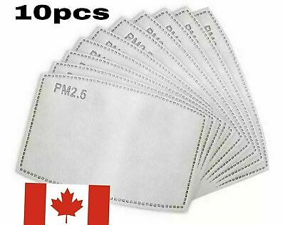 $ CDN9.99 • Buy 10PC PM2.5 Face Mask Filter 5 Layers - Activated Carbon Filters Replacement
