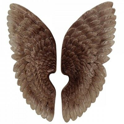 Angel Wings 37cm Wall Hanging Antique Style Copper Colour Left Right.Impressive. • 32.50£