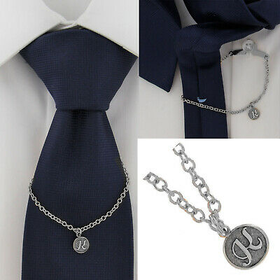 $21.21 • Buy Ky & Co Initial K Silver Tone Tie Chain Button Hole Attachment 7.5  USA Made