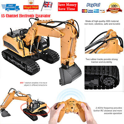 £48.46 • Buy HUINA 1550 2.4G 1/14 15 Channel Electronic Excavator Remote Control Truck RC Toy
