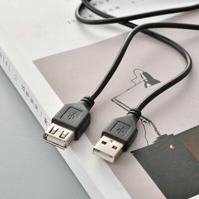 AU7.99 • Buy Usb Extension Cable Black And White Small Fan Copper Usb2.0 A Male To A Famle L