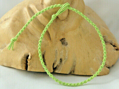 £3 • Buy Anklet Bracelet, Lime Green Cotton Cord Round Braided Plait. Friendship Gift