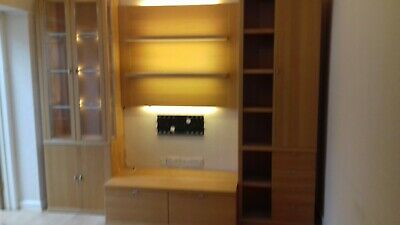 Wall  Cabinets Used Hartmann Solid Beech Wood Wall Unit Furniture  • 500£