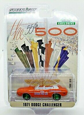 $24.02 • Buy Green Machine 30144 1971 Dodge Challenger Indy 500 Pace Car Greenlight Chase