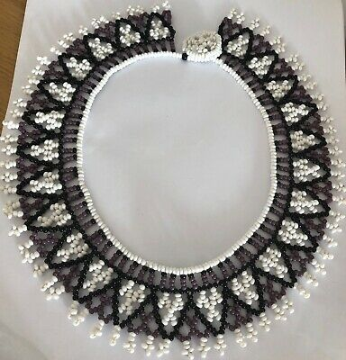 Vintage Native American First Nations Tribal Seed Beaded Collar Necklace  • 24.99£