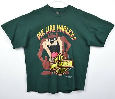 $ CDN73.32 • Buy Vintage 90s Harley-Davidson Men's Sz XL Tasmanian Devil Me Like Biker T-Shirt