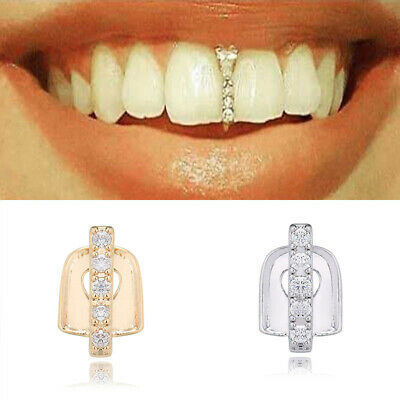 Gold/Silver Grill Rapper Iced Out Tooth Plated Teeth Cap Grills Bling Hip Hop UK • 2.99£
