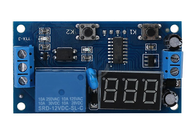 12V LED Digital Delay Time Module Switch Control Relay Cycle Timer Board -UK • 5.90£