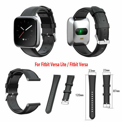 $ CDN18.77 • Buy For Fitbit Versa Lite 2/ Fitbit Versa 23mm Leather Watch Band Strap Replacememnt