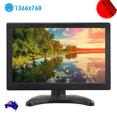 AU111.59 • Buy 12'' Portable Monitor 1366x768P FHD TFT LCD CCTV PC Display Screen Dual Speaker
