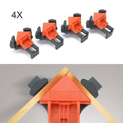 4X Woodworking 90°Right Angle Picture Frame Corner Clamp Clip Holder Tools • 7.59£