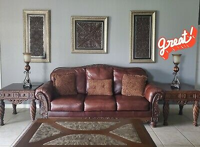 $2900 • Buy Ashley's North Shore Livingroom Collection 5pc W/4 Barstools &frames W/lamps