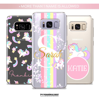 $ CDN10.28 • Buy Personalised Phone Case Unicorn Silicone Cover For Samsung Galaxy S20 S10 S9