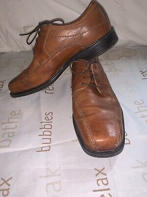 Rockport Brown Lace Up Mens Shoes 100% Leather Size 11 W • 15£
