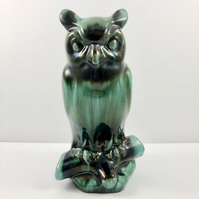 $ CDN30 • Buy Blue Mountain Pottery Great Horned Owl Green Glaze