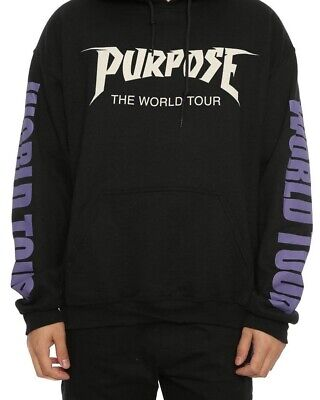 AU30 • Buy Justin Bieber World Tour Hoodie Black - Genuine Official Merchandise Great Cond