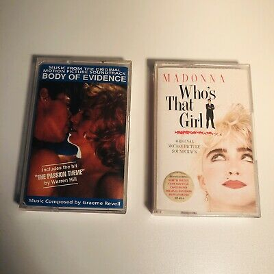 Madonna Rare Cassette Bundle Body Of Evidence / Who's That Girl • 16£