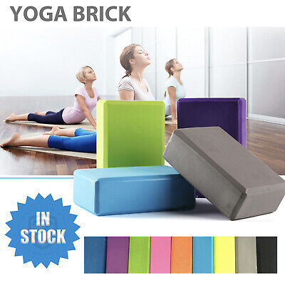 AU13.99 • Buy Yoga Block Brick Foaming Home Exercise Practice Fitness Gym Sport Tool