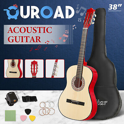 AU59.90 • Buy 38'' Acoustic Guitar Classical Folk Beginners W/Bag String Strap Wooden Natural